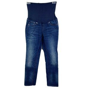 Gap 1969 Maternity Jeans 26 Blue Skinny Crop Best